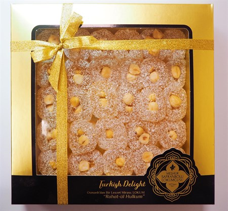 TURKISH DELIGHT WITH HAZELNUTFINDIKLI SAFRANBOLU LOKUM 650 GR ASETAT KUTU