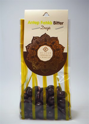DRAGEE PISTACHIO AND BITTER CHOCOLATE 100 GR