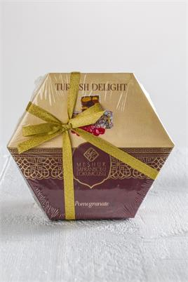 210 GR. TURKISH DELIGHT WITH PISTACHIO AND POMEGRANATE