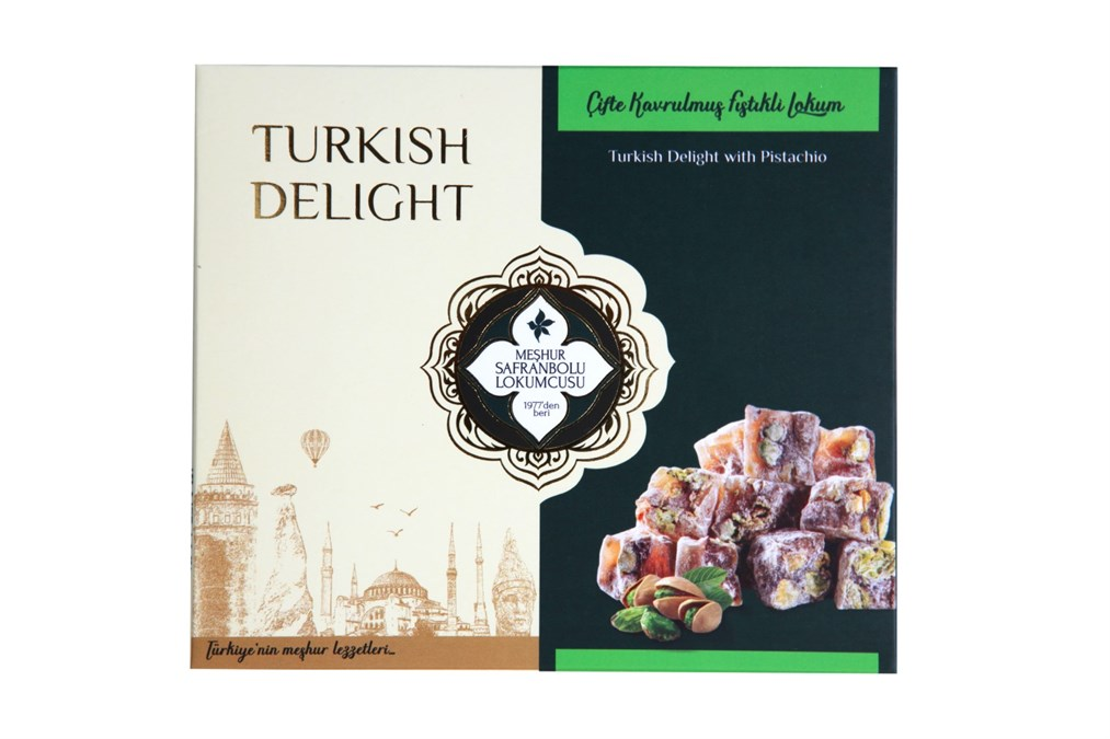 TURKISH DELIGHT WITH DOUBLE PISTACHIO 200 GR