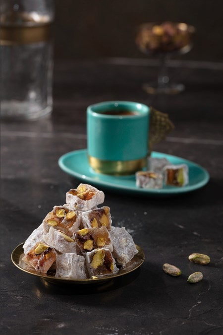 DELUX TURKISH DELIGHT WITH PISTACHIO 900 GR
