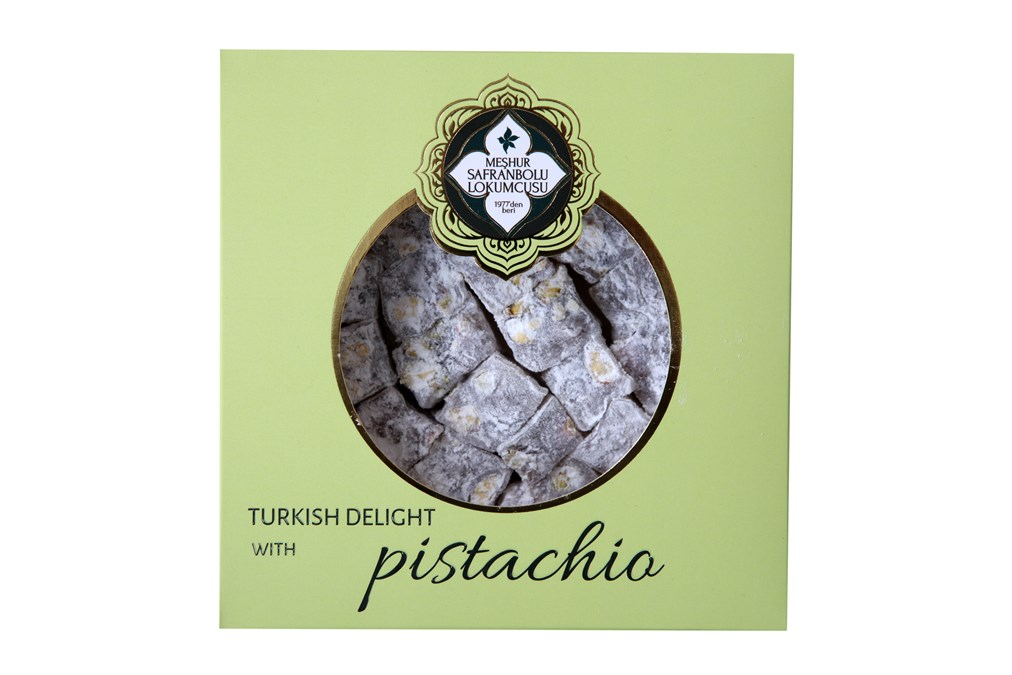 TURKISH DELIGHT WITH DOUBLE ROASTED PISTACHIO 250 GR