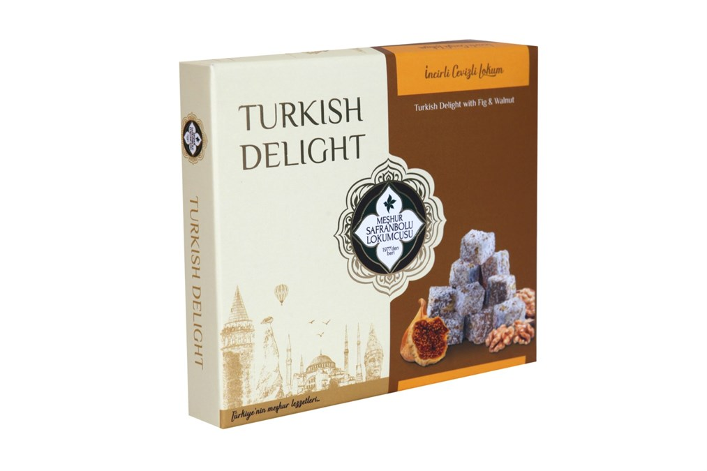 TURKISH DELIGHT WITH P FIG AND WALNUT COVERED WITH COCONUT 200 GR
