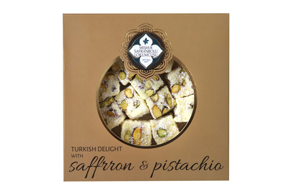 TURKISH DELIGHT WITH SAFFRRON AND PISTACHIO 200 GR